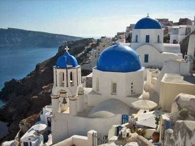 Oia Blue Domed Churches, Visit Santorini