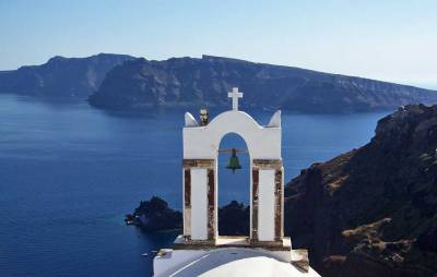 Oia Church Bell, Visit Santorini