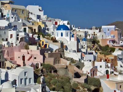 Oia White Washed Homes, Visit Santorini