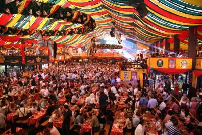 Oktoberfest Tent, Theresienwiese, Visit Munich