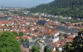 Old Town Heidelberg from Heidelberg Castle, Visit Heidelberg