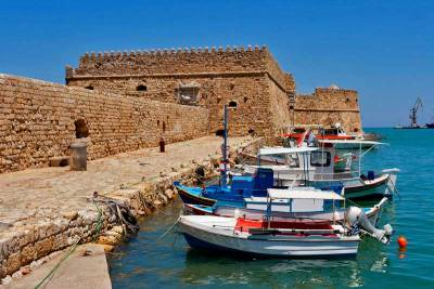 Venetian Fortress, Fishing Boats, Visit Heraklion