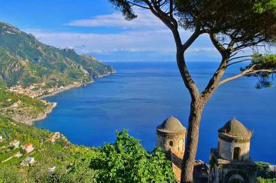 View from Villa Rufolo, Ravello, Visit Amalfi Coast