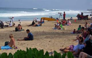 Banzai Pipeline Surfing Competition Spectators