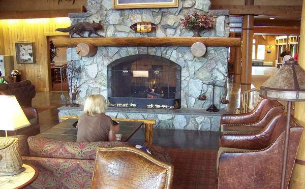 Fireplace, Mt McKinley Princess Wilderness Lodge