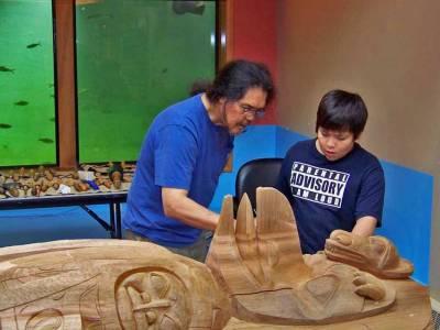 Israel Shotridge, Tlingit Carver, Teaching the next Generation, Visit Ketchikan