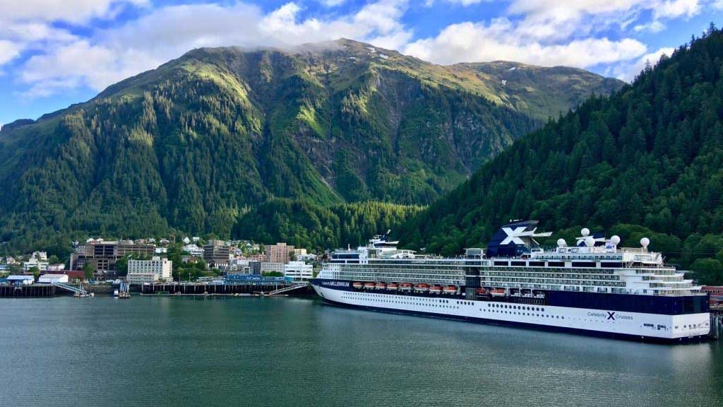 Juneau Harbor, Celebrity Millennium, Star Princess Alaska Cruise