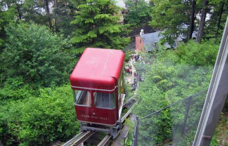 Funicular to Cape Fox Lodge, Ketchikan Walking Tour