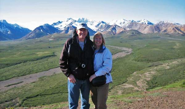 Tim and Viki, Denali Day Tour