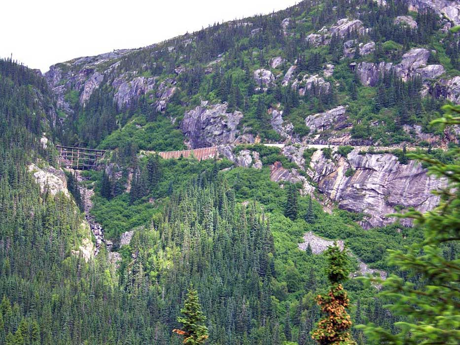 White Pass Yukon Route Railway Trestle