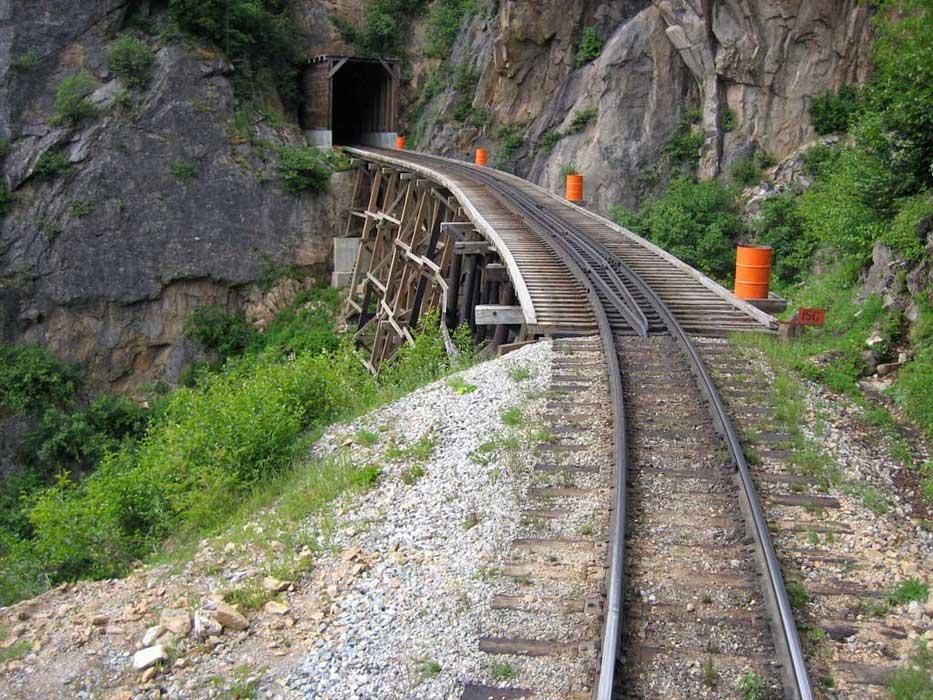 White Pass Yukon Route Railway Tunnel Trestle