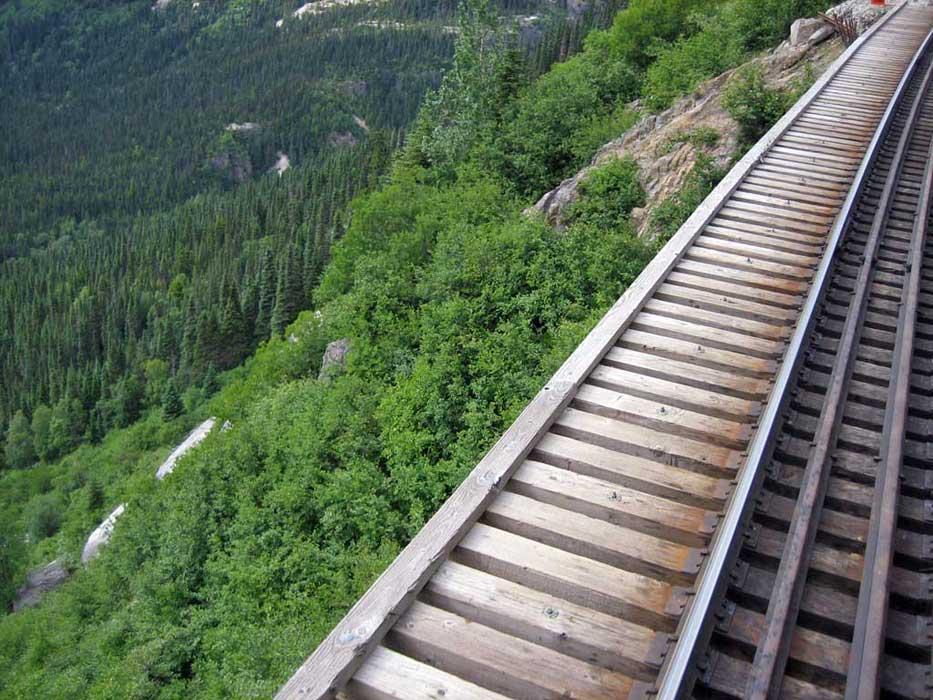 White Pass Yukon Route Railway Cliff Edge