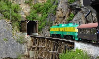 White Pass Yukon Route Trestle Tunnel, Star Princess Alaska Cruise