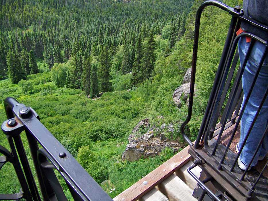 White Pass Yukon Route Railway View Down
