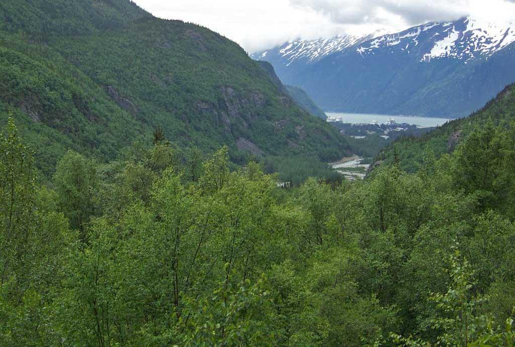 White Pass Yukon Route Railway View of Skagway