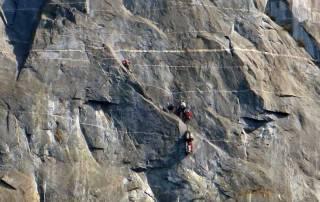El Capitan Climbers, Yosemite Rim Fire Visit