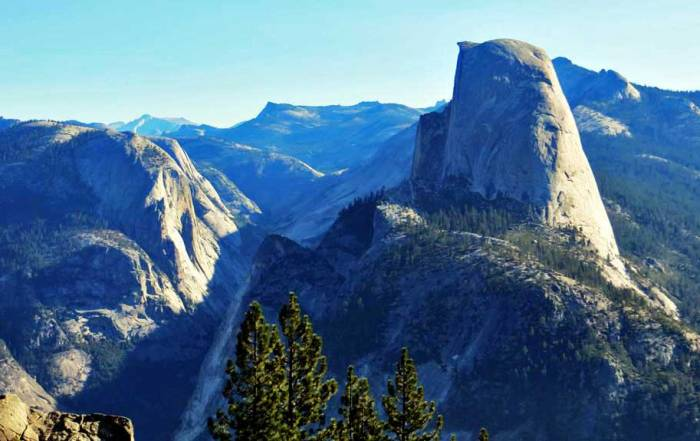 Half Dome, Washburn Point, Yosemite Rim Fire Visit