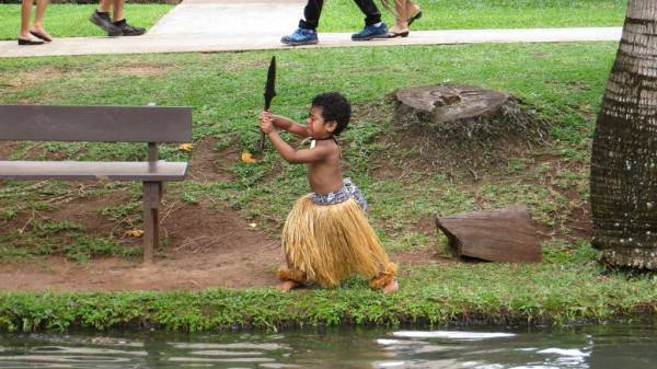 Aspiring Performer Practicing, Polynesian Cultural Center