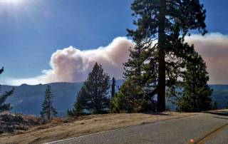 Rim Fire, Tioga Pass, Yosemite Rim Fire Visit