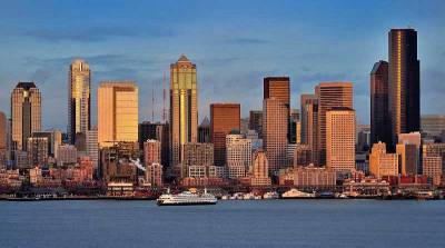 Seattle Skyline-from Puget Sound, Visit Seattle