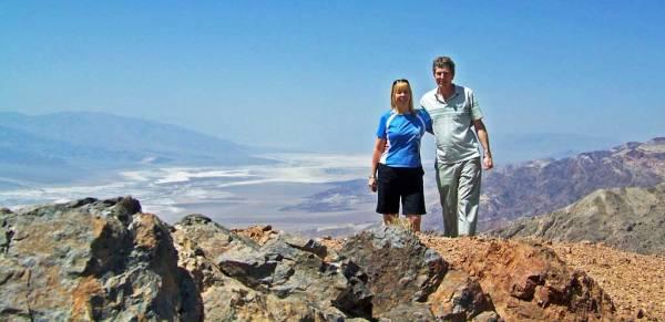 Viki, Tim, Dantes View, Death Valley Day Trip