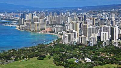 Waikiki and Kapiolani Park from Diamond Head