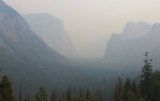 Classic Yosemite Tunnel View, Yosemite Rim Fire Visit