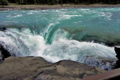 Athabasca Falls turquoise waters, Visit Jasper National Park