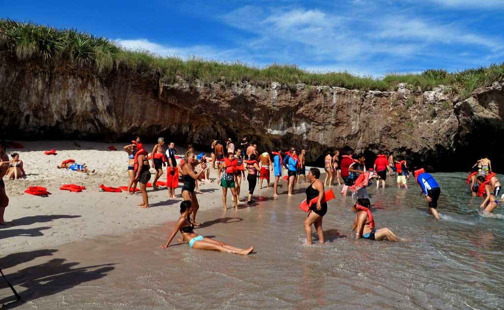 Tour Group, Love Beach or Hidden Beach, Marietas Islands Day Trip