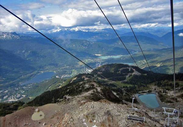 View from the Peak Express, Whistler Summer Visit
