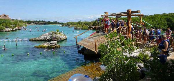 Zip-line, Xel-Há Tulu Tour, Riviera Maya