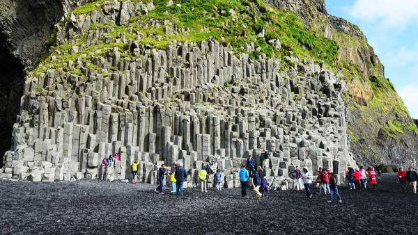 Basalt Columns, Reynisfjara Black Sand Beach, Iceland South Coast Day Trip