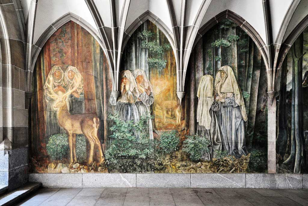 Fraumünster Church Fresco by Paul Bodmer, Zurich Old Town