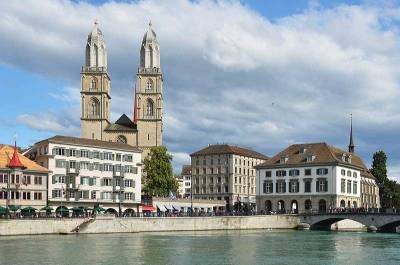 Grossmünster Church, Limmat River, Visit Zurich