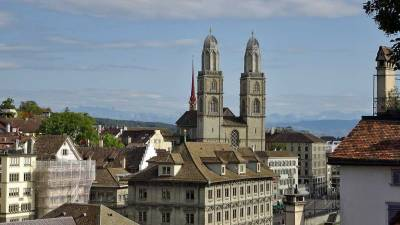 Grossmünster Church, Zurich Old Town