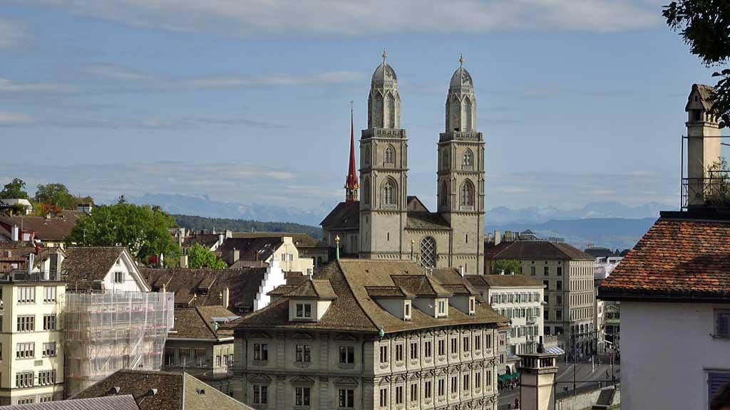 Grossmünster Church, Zurich Old Town