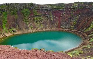 Kerið Volcanic Crater Lake, Iceland Golden Circle Tour