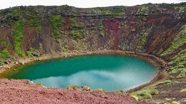 Kerið Volcanic Crater Lake, Iceland Golden Circle Tour