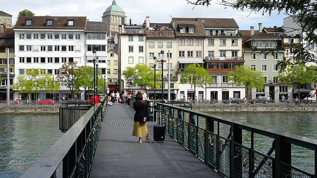 Mühlesteg, Love Lock Bridge, Zurich Old Town