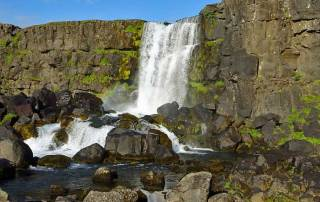 Öxarárfoss Waterfall, Thingvellir, Iceland Golden Circle Tour