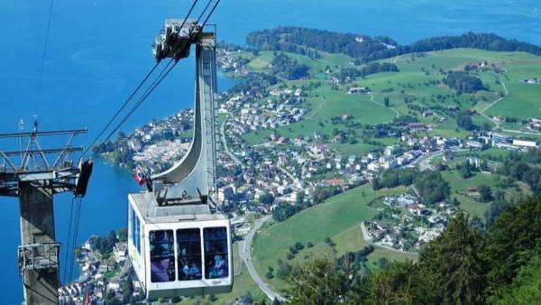 Weggis Gondola down Mount Rigi