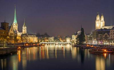 Visit Zurich Old Town at Night