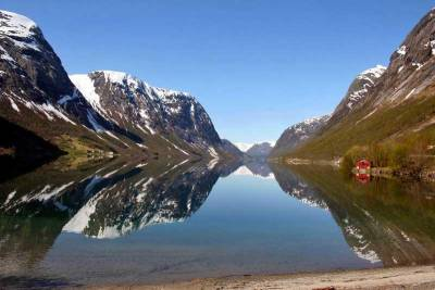 Aurlandsfjord near Flam, Norway