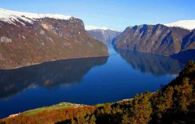 Aurlandsfjord, Fjord, Flam, Norway