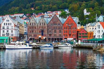 Bryggen Wharf, Bergen Norway
