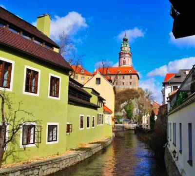 Canal & Cesky Krumlov Castle
