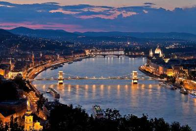 Danube River Evening View, Visit Budapest
