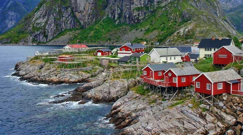 Rorbuer in Hamnøy, Lofoten Islands
