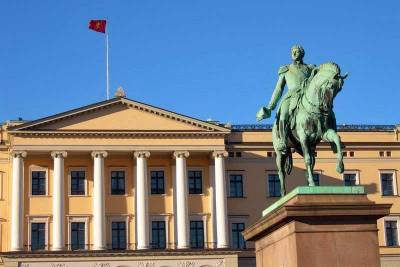 Royal Palace, Statue of King Karl Johan, Oslo