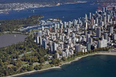 Stanley Park, Downtown Vancouver Aerial